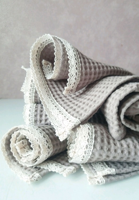 Маленькое полотенце для лица и рук с кружевом, Полотенца, Санкт-Петербург,  Фото №1