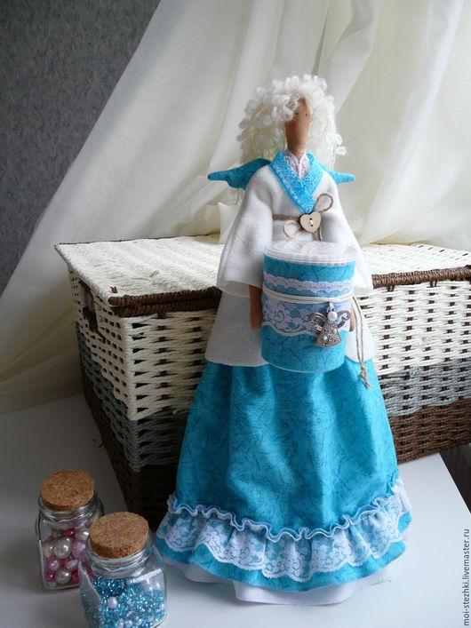 Куклы Тильды ручной работы. Ярмарка Мастеров - ручная работа. Купить Интерьерная кукла Тильда.Хранительница ватных палочек и дисков.. Handmade.