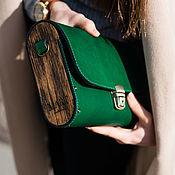 Сумки и аксессуары handmade. Livemaster - original item Leather bag Big Green. Handmade.