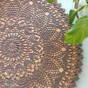 Для дома и интерьера ручной работы. Ярмарка Мастеров - ручная работа Кружевная салфетка натурального льняного цвета. Handmade.