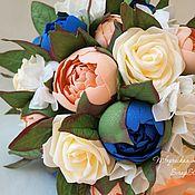 """Свадебные букеты ручной работы. Ярмарка Мастеров - ручная работа Букет невесты """"Персиковый"""". Handmade."""