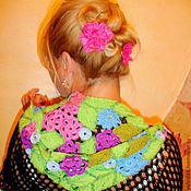 "Одежда ручной работы. Ярмарка Мастеров - ручная работа ""Цветы, цветы"" кофточка ажурная вязаная. Handmade."
