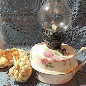"""Для дома и интерьера ручной работы. Ярмарка Мастеров - ручная работа Лампа керосиновая  """"Цветы"""". Handmade."""