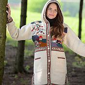 Одежда ручной работы. Ярмарка Мастеров - ручная работа Пальто вязаное 12wj25. Handmade.