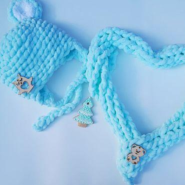 Одежда ручной работы. Ярмарка Мастеров - ручная работа Шапки: комплект Шапка + шарф. Handmade.