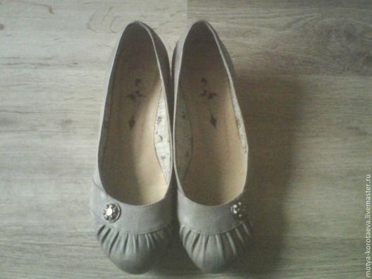 Винтажная обувь. Ярмарка Мастеров - ручная работа. Купить Старенькие, милые туфли на удобном каблучке... Винтаж. Handmade. Винтажный стиль