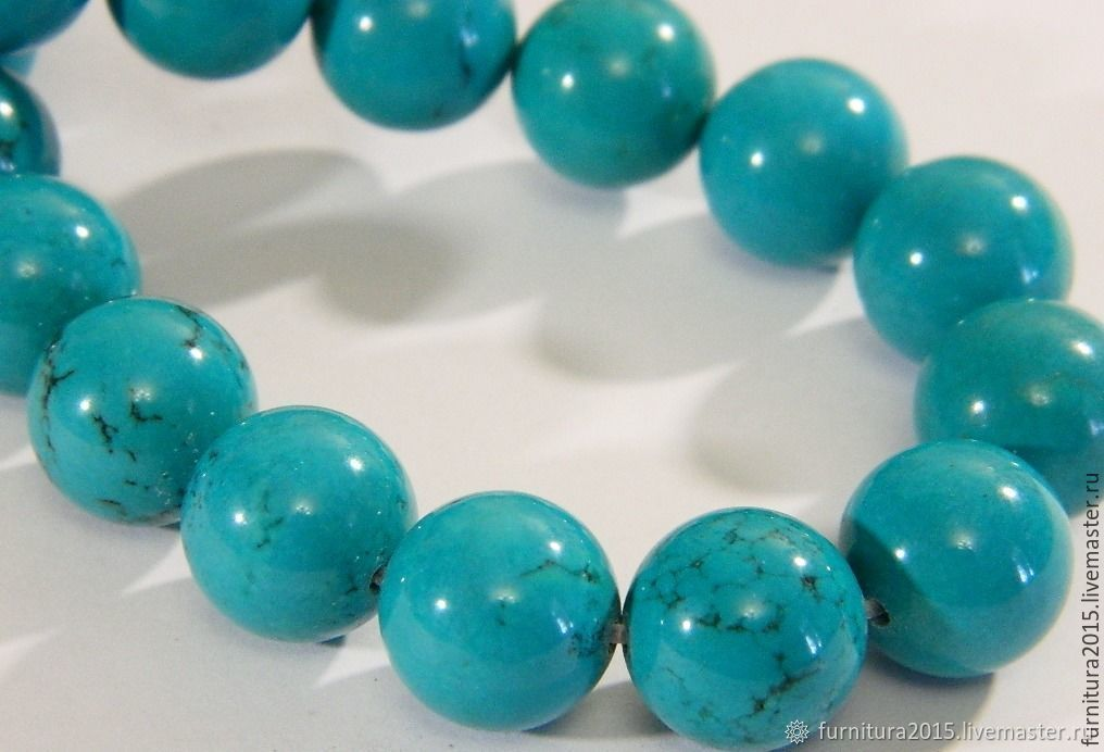 Turquoise ball 12 mm, Beads1, Saratov,  Фото №1