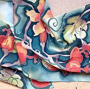 """Аксессуары ручной работы. Ярмарка Мастеров - ручная работа Батик  Шарф  """"Изобилие"""". Handmade."""