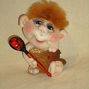 Куклы и игрушки ручной работы. Ярмарка Мастеров - ручная работа Домовенок в мешочке. Handmade.