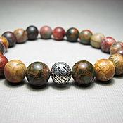 Украшения handmade. Livemaster - original item Jasper Picasso bracelet