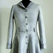 """Пальто ручной работы. Ярмарка Мастеров - ручная работа Пальто """"Иней"""" из мериносовой шерсти.. Handmade."""