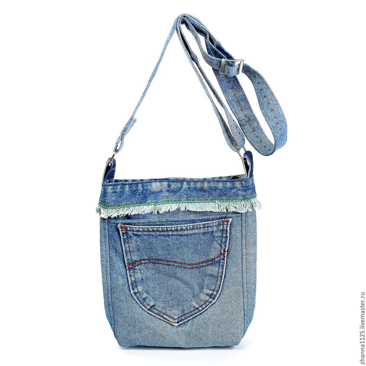 Идеи джинсовых сумок выкройки фото 16