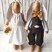 Свадебный подарок, подарок на годовщину свадьбы. Зайцы свадебные.