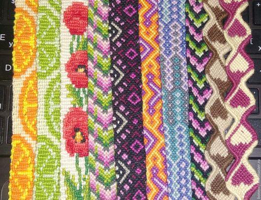 Браслеты ручной работы. Ярмарка Мастеров - ручная работа. Купить Фенечки, плетеные браслеты. Handmade. Фенечка, браслет, мулине