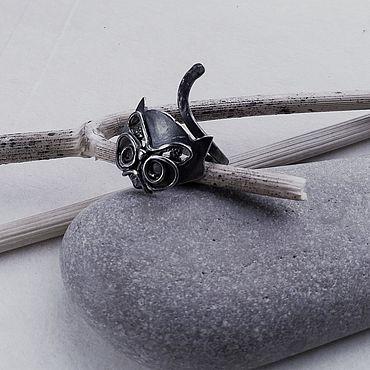 Decorations handmade. Livemaster - original item The Black cat ring, black cat ring, cat ring cat gift for the cat owner. Handmade.