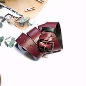 Аксессуары handmade. Livemaster - original item Straps: Maroon. Handmade.
