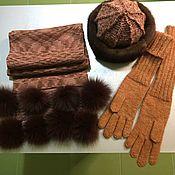 Шарфы ручной работы. Ярмарка Мастеров - ручная работа Шапка и шарф. Handmade.
