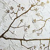 """Картины и панно ручной работы. Ярмарка Мастеров - ручная работа """"Золотой лес"""" Модульная картина. Handmade."""