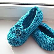 Обувь ручной работы. Ярмарка Мастеров - ручная работа Балетки бирюзовые. Handmade.