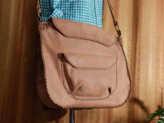 Женские сумки ручной работы. Ярмарка Мастеров - ручная работа. Купить Большая рыжая. Handmade. Оранжевый, сумка большая