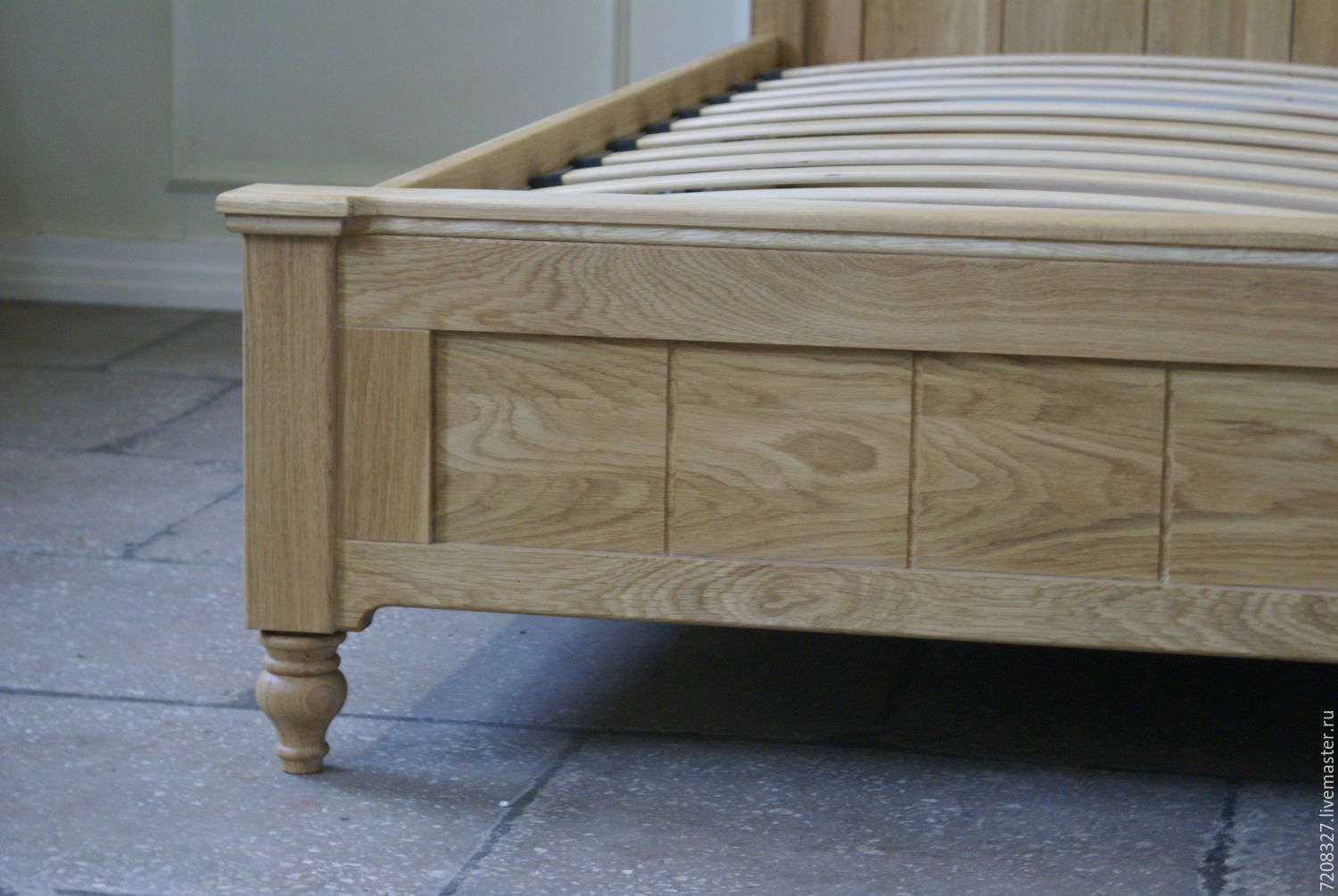 Finish With Bed Lifting Mechanismmade Of Natural Oak Environmentally Friendly Production