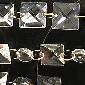 Элементы интерьера ручной работы. Ярмарка Мастеров - ручная работа Шторы из квадратиков.. Handmade.