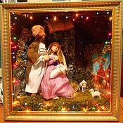Подарки к праздникам ручной работы. Ярмарка Мастеров - ручная работа Рождественский вертеп. Handmade.