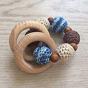 Работы для детей, ручной работы. Ярмарка Мастеров - ручная работа Прорезыватель с буковыми кольцами. Handmade.