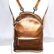 Сумки и аксессуары ручной работы. Ярмарка Мастеров - ручная работа Золотой сумка рюкзак из натуральной кожи. Handmade.