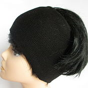 Аксессуары handmade. Livemaster - original item A copy of the work head band black Merino extra fine. Handmade.