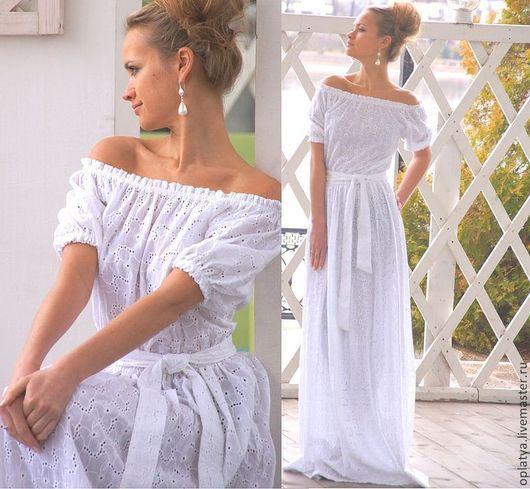 белое платье летнее платье белое в пол платье на лето белое длинное платье для отпуска платье для моря платье на жару платье для жары платье хлопок белый платье длинное белое на лето платье в отпуск