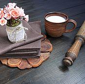 Для дома и интерьера ручной работы. Ярмарка Мастеров - ручная работа Салфетки шоколадные 33х33 см 10 штук. Handmade.