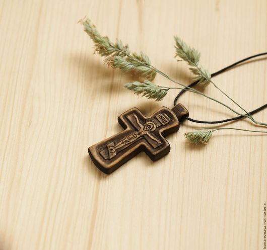 `Кострома` - деревянный резной нательный крест-распятие. Крест деревянный. Крест из дерева. Крест резной. Крест с распятием. Кипарис.