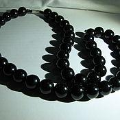 Украшения handmade. Livemaster - original item Beads made of jet