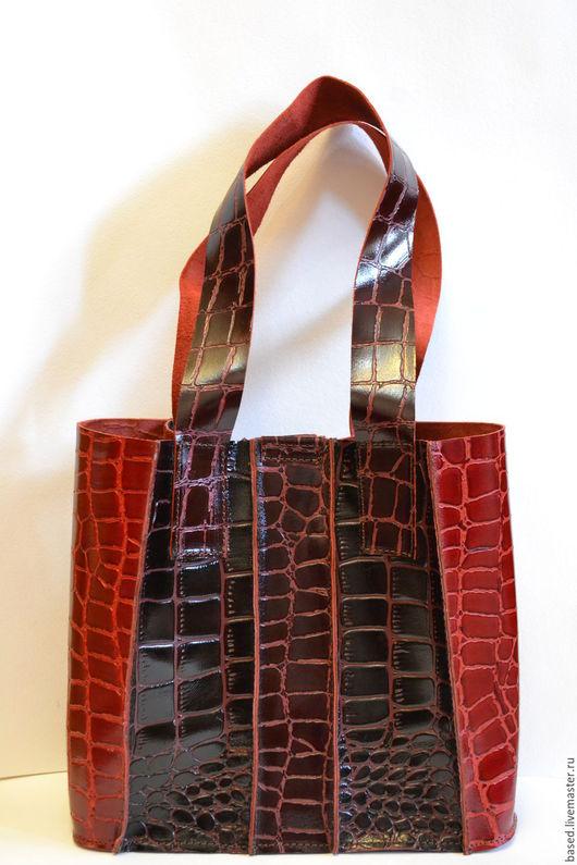 Женские сумки ручной работы. Ярмарка Мастеров - ручная работа. Купить Женская кожаная сумка. Handmade. Бордовый, крепко, красиво