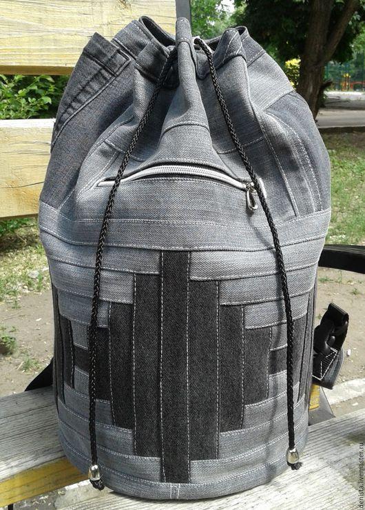 Рюкзаки ручной работы. Ярмарка Мастеров - ручная работа. Купить Рюкзак Infinity Gray II. Handmade. Рюкзак джинсовый, джинс