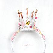 Работы для детей, ручной работы. Ярмарка Мастеров - ручная работа Розовая корона и волшебная палочка. Handmade.