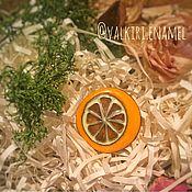 """Украшения ручной работы. Ярмарка Мастеров - ручная работа Брошь """"Апельсин"""". Handmade."""
