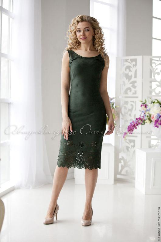 """Платья ручной работы. Ярмарка Мастеров - ручная работа. Купить Платье """"Замша"""". Handmade. Однотонный, масютина олеся"""