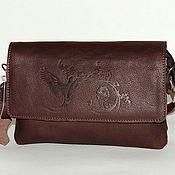 Сумки и аксессуары handmade. Livemaster - original item Brown leather bag