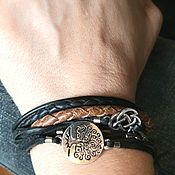 Украшения handmade. Livemaster - original item Men`s bracelet. Stacked bracelet. Bracelet with totem eagles.. Handmade.
