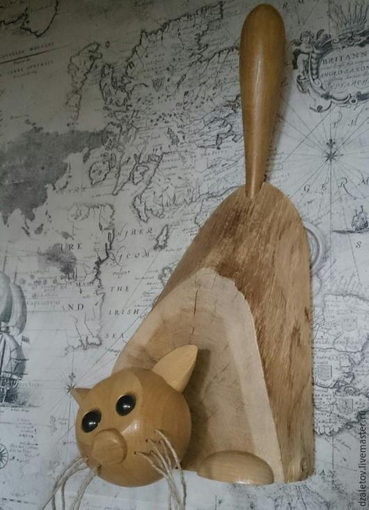 Элементы интерьера ручной работы. Ярмарка Мастеров - ручная работа. Купить Вот такая кошка. Handmade. Скульптура из дерева