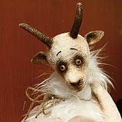 Куклы и игрушки ручной работы. Ярмарка Мастеров - ручная работа Коза тедди Мимоза. Handmade.