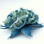 Украшения handmade. Livemaster - original item Denim rose.. Handmade.