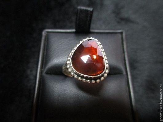 Кольца ручной работы. Ярмарка Мастеров - ручная работа. Купить Уникальное кольцо с хессонитом (гранатом) из Шри-Ланки. Handmade. Рыжий