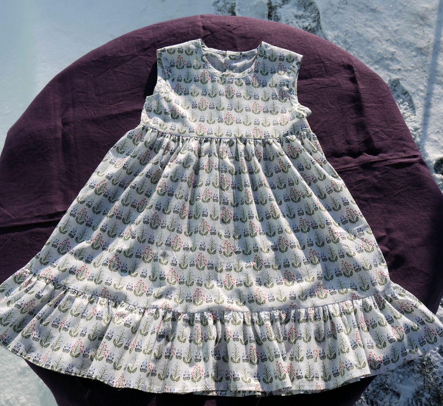 Летнее платье-сарафан из хлопка, Платья, Липецк,  Фото №1
