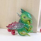 Украшения ручной работы. Ярмарка Мастеров - ручная работа Брошь зеленый дракон. Handmade.