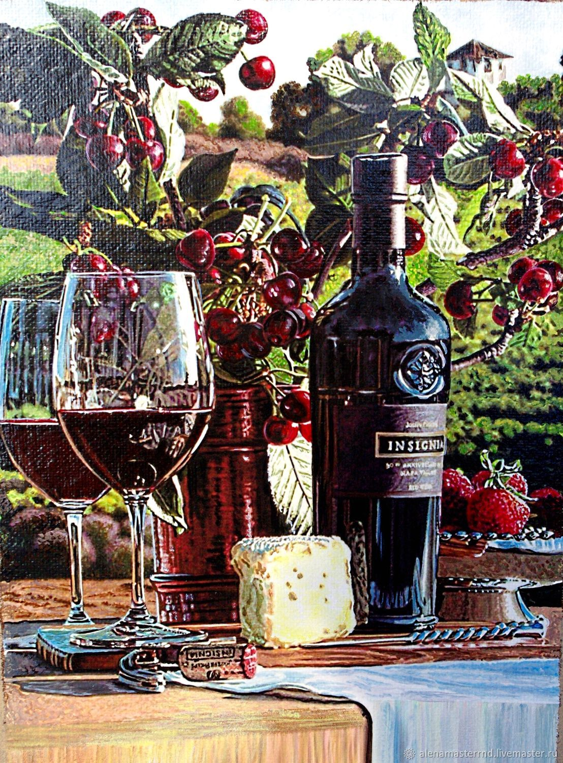 'Cherry garden' piggy Bank for wine corks,interior,home, Pictures, Rostov-on-Don,  Фото №1