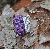 Украшения handmade. Livemaster - original item Silver earrings berries Grapes. Handmade.