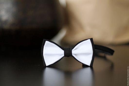 Галстуки, бабочки ручной работы. Ярмарка Мастеров - ручная работа. Купить Бабочка черно-белая детская/взрослая. Handmade. Чёрно-белый